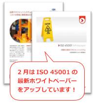 2月はISO 45001の最新ホワイトペーパーをアップしています!